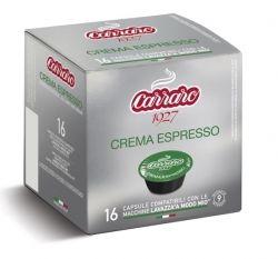 Carraro Капсули кафе Crema Espresso 16x7г. (съвместими с А Модо Мио)