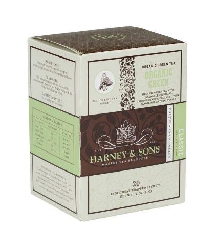 Органичен зелен чай с цитрус и гинко   Wrapped sachets - Harney&Sons