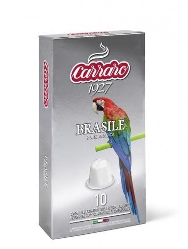 Carraro Капсули кафе Single Origin Brasile 10x5.2 гр.(съвместими с Неспресо)