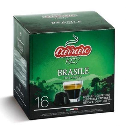 Carraro Капсули Single Origin Brasile 16x7г. (съвместими с Долче Густо)